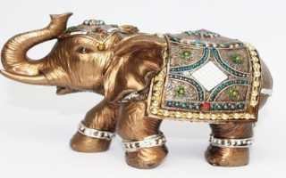 Подарок в виде статуэтки слона фэн шуй